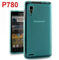 Lenovo P780 Clear Silicone Case Crystal Skin Soft Cover + Free Screen Protector
