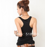 2015 Hot Sale Ruched Regular Solid Active Summer Wear Thick Rib H Women's Render Condole Belt Vest Pure Color Tank Fitness Top