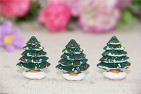 Free Shipping!   resin Christmas tree,  cabochons  for DIY phone case decoration Christmas gift
