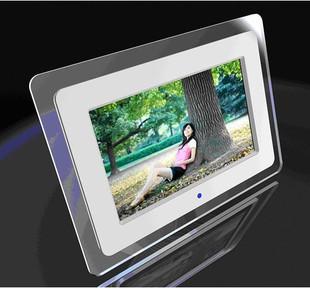Spedizione gratuita in 10 pollici cornice foto digitale colore bianco ultra- sottile schermo a led 1024 600 sembra album di foto elettronici