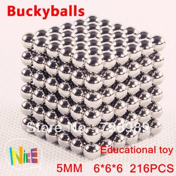 3pcs/lot 216 pcs Diameter 5mm Neocube neodymium Toy Neo Cubes Puzzle Toy Sphere Magnet Magnetic Buckyballs Bucky Balls
