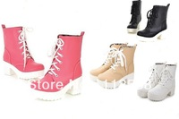 new 2013 shoes woman lacing martin boots thick heel platform high-heeled boots women motorcycle boots for women MB103
