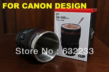 60Pcs/Lot,DHL EMS Free Shipping,For Canon design 24-105mm 4th ed, Flat cover stainless steel cup ,CANIAM logo