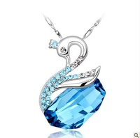 Hot Sale Fashion Jewelry Crystal Silver Necklace , 925 Silver