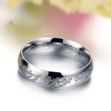 Hot selling Hobbit Letters The l of Male Gift Titanium Stainless Steel Rings For Men Women