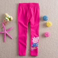 5Pcs/lot!Age1~6Y Children pants baby girls Peppa pig legging kids child  trousers elastic pants Children straight trousers