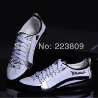 Classic Men's Sneakers DSQ Shoes Luxury D2 Man Casaul Lace-up Shoes White&Silver