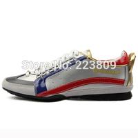Summer Fashion Luxury Men's Sneakers DSQ Casaul Shoes D2 Men Silver Lace-Up shoe