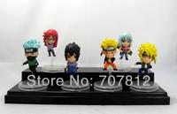 2013 6PCS/Set Cute Naruto Aaction Figurse Anime  Figures  6CM Naruto/Minato  Free Shipping Best Gifts