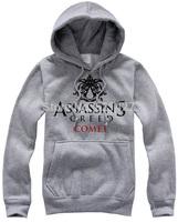 assassins creed men and women's hoodies autumn winter thick GAME  cotton hoodie  sweatshirt pocket hat