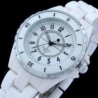 New arrival women crystal dress watches ladies bracelet ceramic quartz couple wristwatches silver dress watch 8628