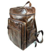 Fashion Genuine Full Grain Leather Cowhide Oil Wax Leather Men Women Shoulder Bag Backpack Backpacks Bags For Men Women 8963