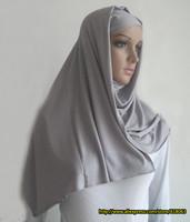 M-048 Free Shipping  New 2014  Muslim fashion headband single jersey viscose scarf 180 * 55 cm