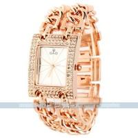 Trendy Elegant Luxury  Golden Stainless Steel  Bangle quartz wrist watches for women for free shipping