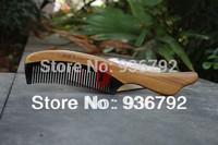 2pcs Sandalwood + black buffalo horn Professional Detangling Hair Comb  styling tools hair Brush Free shipping