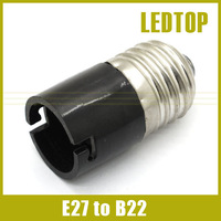 10pcs/lot Free Shipping Black E27 to B22 Bulb Converter holder LED Light Lamp Adapter Connector
