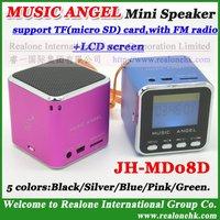 Portable Speaker Original MUSIC ANGEL  TF card speaker with LCD screen+FM radio function+TF card reader