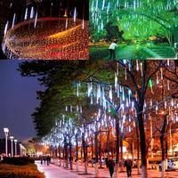 White 30CM Meteor Shower Rain Tubes LED Light For Christmas Wedding Garden Holiday Decoration Lamp 100-240V/EU TK1169