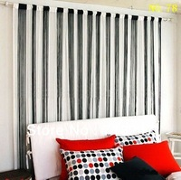 290*280cm Black White String Window Curtain Line Room Divider Three Colored Door Backout Decoration Curtains Free shipping