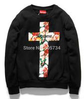 Wholesale supreme Hooded Sweatshirts supreme hoodie winter jumper long sleeve tee free ship overcoat hip hop sweatershirts