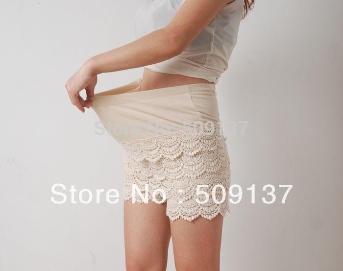 Summer Maternity Clothes Pregnant Women's Plus Size Lace Culotte/ Safety Pants/ Shorts/ Leggings X50