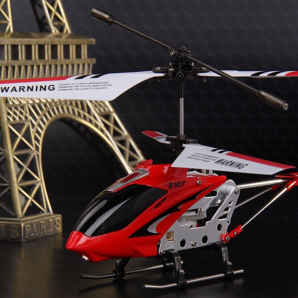 Original identify s107!SYMA S107G red metal led light 3.5CH RC Mini helicopter toys with gyro/3xspare parts FREE SHIPPING(China (Mainland))