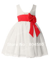 Free Shipping Sleeveless Flower Girl Princess Bridesmaid Wedding Pageant Party Dress 10 Size 2~12 Years CL4608