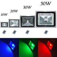 10W 20W 30W 50W LED RGB Color Change Flood Light Lamp Remote Control 100-245V