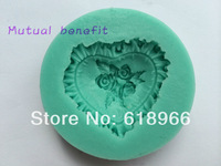 Silicone Mold Baking Mould Soap Clay Sugarcraft Decorating Fondant Heart&Flower