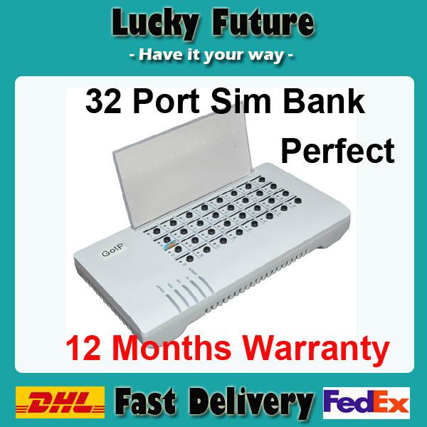 SMB32 /32 SIM CARDS REMOTE SIM SERVER/SIM BANK 32 support GoIP Gateway wholesale and retail(China (Mainland))