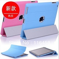 Free Shipping Pu Leather Case Flip Cover Case Cover For Apple ipad 2  iPad 3 ipad 4 Fashion Beautiful Design