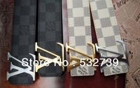 2013 New arrival Hot sale Genuine Leather Belts wholesale&retail gold and siliver buckle