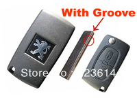 peugeot remote key 2 button 433mhz (307 with groove) HU83 blade 0536 model fully new condition