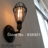 Free shipping edison bulb light Vintage loft wall lamp bedroom bedside lamp