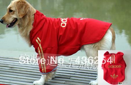 roupas para cães wellsore roupas de outono e inverno de 2007 pastor- camisola cão grande cão roupas espessamento revestimento wadded(China (Mainland))