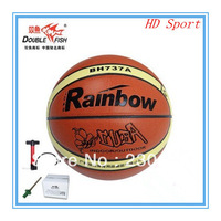Piscean ChangHong BH737A Basketball Indoor Outdoor PU Basketball Ball Wear-Resistant Genuine Leather Pump Free Shipping
