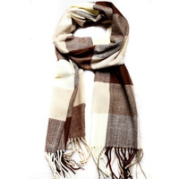 80069 Free Shipping Womens Mens Fashion Designer Long Scarves Beige Winter Autumn Tassel Plaid Striped Cotton Scarf  Wholesale