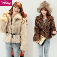 2013 New Free shipping Hot selling Women Faux Fur  Winter Long Korean Luxury Fur Coat  ZY 3065