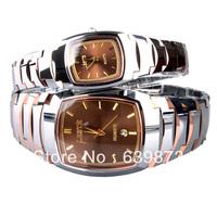 free shipping Leste tungsten steel watches pure tungsten steel lovers watch elegant  perfect gift