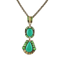 New 2013 Fashion Jewelry Simulated Gemstone Vintage Chains Alloy Statement pendent Necklace for women