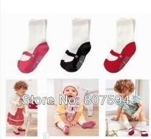 Retail 6pcs=3pairs/lot Baby Cute Mini footgear baby kids non-slip socks,baby socks baby's gifts ak08(China (Mainland))