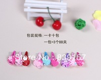30pieces/lot cute resin heart  star  hairclips  for baby ,girls hair accessories