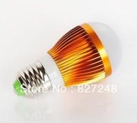 Hot Shell color gold E27 e27 base led smd 3*1w LED Bulbs light ac85-265V Aluminum LED lamp Bubble Ball Bulb indoor lighting RU