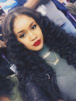 6A Grade 100% Brazilian Virgin Human Hair Deep Wave Full Lace Wig In Stock