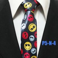 New Arrival Popular Classic Mens Smile Casual Ties For Man Skinny Unique Neckties Gravatas 5CM P5-N-4