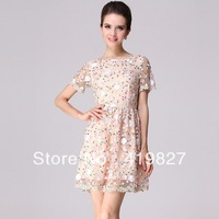 High Quality 2013 New Fashion Bandage Runway Casual Dress Mint Maxi Lolita Women Novelty Cute Lace Dresses Peplum Party Vestidos