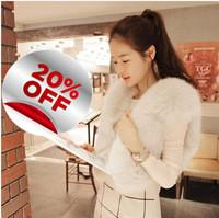 2013 autumn and winter faux fur coat short design wool sweater vest waistcoat women's vest