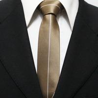 Mens Popular Brown Novelty Neckties For Men Casual Plain Striped Ties For Shirt Slim Gravatas 5CM F5-K-1