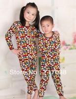 Free shipping children underwear thick velvet suit and gold velvet baby boy and girl child thermal underwear set