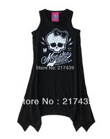 Free shipping! New Arrival Monster High girl girls kids sleeveless Black Dress dress 10 pcs/lot